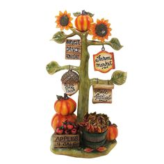 Harvest Decoration with Signs Statue