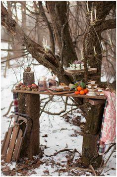 Ideen für eine zauberhafte Winterparty am Lagerfeuer