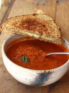 Garden Tomato Basil Soup recipe by SeasonWithSpice.com