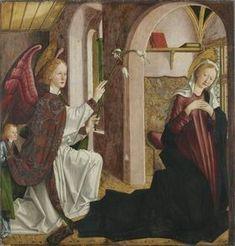 Laurentius-Altar.  Annunciazione.  1462-1463. Alte Pinakothek München