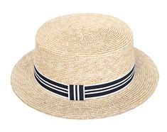 0f1de3e2beebd4 RIONA Women's Natural Straw Boater Hat Flat Top Summer Beach Sun Hat UPF  50 Review