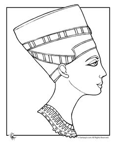 Ancient Egypt Coloring Pages Cleopatra Page Fantasy Jr