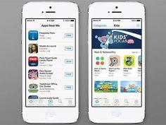 iPhone 5, da Apple, com o sistema iOS 7