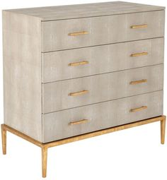 OKA Lantau Faux Shagreen Chest of Drawers