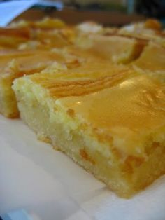 St Louis Gooey Butter Cake  Yeah, it's the same thing but this is from scratch (no cake mix here).