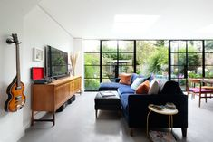 Laura Burkitt, a lifestyle and event stylist, shares this two-bedroom flat in Queens Park, London with her boyfriend. Laura and her boyfriend loved designing everything themselves.