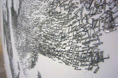 Incredible Staple Art by Baptiste Debombourg - My Modern Metropolis