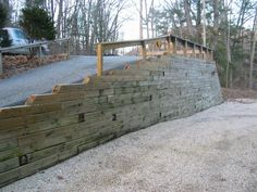 Small Retaining Wall Ideas Into The Gl Wood Jessie Niedens Railroad Tie