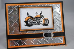 Handcrafted Masculine Motorcycle Harley by PaperBlossomsbyAmy