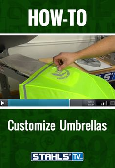 Looking to expand your business beyond standard garments? Stahls\' TV Presenter, John Loucks shows you how to use a #heatpress and heat applied transfers to customize umbrellas generating revenue with very little time or effort. StahlsTV.com