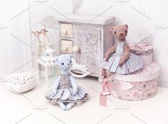 teddy bears decoration Photos Decor with teddy bears and boxesAll of my work organized by theme in collections: https://creative by Oksana Ariskina