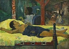 1896, Huile sur toile, Neue Pinakothek, Munich' - The Birth of Christ', 1896, by Paul Gauguin