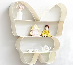 Got a similar shelf at Kohls for $30, figuring out where to put. Butterfly Shelf #pbkids
