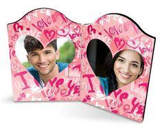 Portafoto con pannelli con grafica rosa