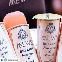 ... ! How good do these #Bellini pops look?! @mewsofmayfair #SMPLoves