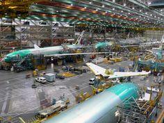 Everett Boeing 777 Final Assembly Line - 2011