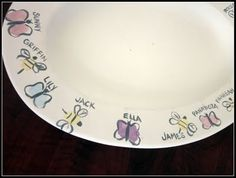 Finger Print Plate ~ great idea for my preschoolers!!