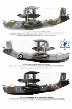 Short Singapore Mk.III Amphibious Aircraft, Ww2 Aircraft, Fighter Aircraft, Military Aircraft, Sea Planes, Float Plane, Aircraft Painting, Flying Boat, Military Pictures