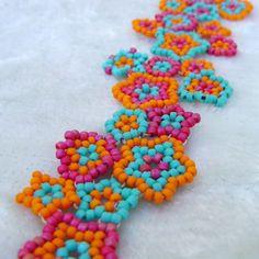 Mexican Frida Kahlo Multi-Color Flower Bracelet