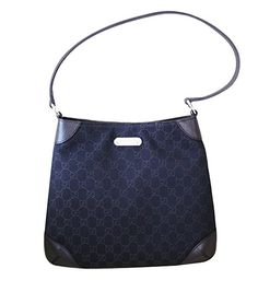 da2225f24b Gucci Brown Denim Hobo Handbag Shoulder Bag 196140 1086 Gucci Designer