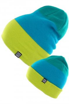 SK8DLX Three Beanie (green blue lime) | #skatedeluxe #sk8dlx