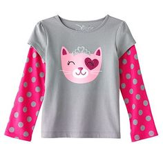 Jumping Beans Mock-Layer Glittery Graphic Tee - Toddler. $5.99 on sale
