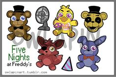 Five Nights At Freddy's Sticker Sheet by owlapin on Etsy