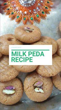 Peda Recipe, Diwali Food, Indian Dessert Recipes, No Bake Desserts, Vegetarian Recipes, Food Photography, Easy Meals, Milk, Quick Easy Meals
