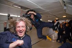 """""""The ZERO-G Experience® is a once-in-a-lifetime opportunity to experience true weightlessness. On our specially modified Boeing parabolic arcs are performed to create a weightless environment allowing you to float, flip and soar as if you were in spa Gran Tour, Clarkson Hammond May, James May, Jeremy Clarkson, Top Gear, New Inventions, Education Humor, Celebrity Travel, Seinfeld"""