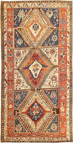 Antique Shahsavan Caucasian Rug 2922 Detail/Large View - By Nazmiyal