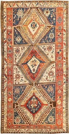 Antique Shahsavan Caucasian Rug 2922 Detail/Large View - By Nazmiyal