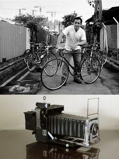 CK Vintage bike collector: Pacemaker Crown Graphic 1950 model, 135mm Graphex lens, HP5 400, D-76 1+1
