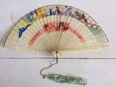 20s Hand Fan Vintage Antique Art Deco 20s Oriental Folding Hand Fan Bone & Silk Blossom Sakura Flowers Silver Metal Edge by KeetleyCollectables on Etsy https://www.etsy.com/uk/listing/517398752/20s-hand-fan-vintage-antique-art-deco