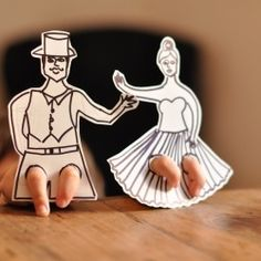 finger flamenco dancers - would be great craft, but you could do any kind of person!