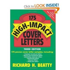 175 High-Impact Cover Letters. Call #: RCL 7