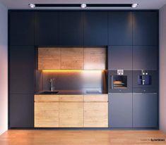 Kitchen Room Design, Modern Kitchen Design, Home Decor Kitchen, Interior Design Kitchen, Minimal Kitchen, Stylish Kitchen, Beautiful Kitchens, Cool Kitchens, Hidden Kitchen