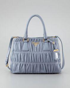 6a9f8f43963 Napa Gaufre Small Satchel Bag, Pervinca by Prada at Neiman Marcus. Prada  Handbags,
