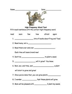 """Frog and Toad Together - Activities for """"Cookies"""" 