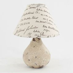 Great ceramic table lamp in beige color and fabric shade www.inart.com