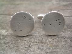 Pleiades and Canis Major Constellations Cuff Links by donnaodesigns. $79.95, via Etsy.