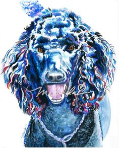 """Amazing how much this painting of a labradoodle looks like my """"Baxter Black""""!!"""