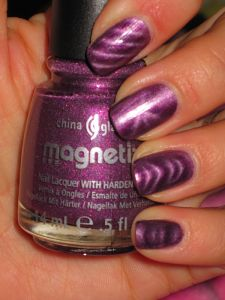 China Glaze Magnetix Drawn to You- magnetic nail polish how sweet is thissss