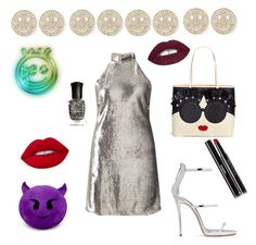 """""""happy faces"""" by greensparkle1 ❤ liked on Polyvore featuring Sydney Evan, Alice + Olivia, Miss Selfridge, Giuseppe Zanotti, Chanel, Lime Crime, L.A. Girl and Deborah Lippmann"""