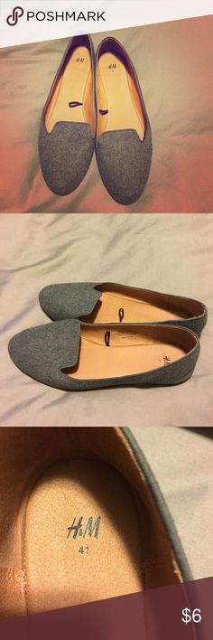 H&M flats Lightly worn, like new condition. Their sizes are weird, they're a 41. I am size 9 and they fit perfectly. H&M Shoes