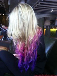 dip dyed hair! i dont think id ever do this but it is so pretty to just look at! haha