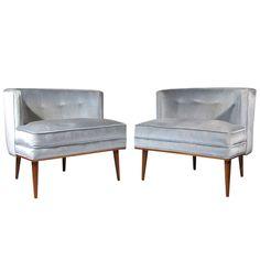 Pair Milo Baughman Club Chairs 1965