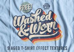 Look What I Found: Washed & Worn T-Shirt Effect Textures #textures