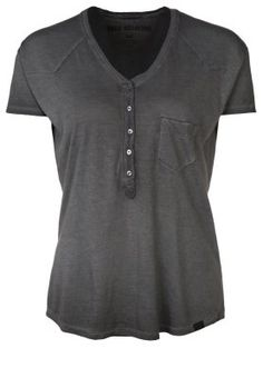 BUTTONFLY - T-shirts - jetblack