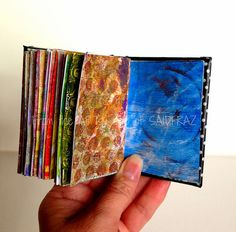 pages from mini gelli print book