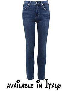 B078JG5HB4 : Citizens of Humanity Da Donna jeans alla caviglia a sigaretta cara Retrograde 27. 98% cotone 2% spandex. Chiusura con bottone e zip per volare. Cinque tasche. Aumento High. Caviglia di sigaretta